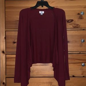 Old Navy maroon cardigan